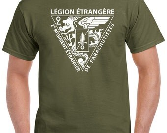 Foreign Legion T-Shirt - 2 REP Insignia 0280