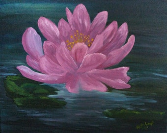 "Fine Art Paper and Giclee' Gallery Wrapped Canvas Print ""Lotus Love"""
