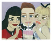 Archie, Veronica and Betty, Signed Print of Original Oil Painting, Archie Print, Betty Print, Veronica Print, Archie Comic Art by Amy Tom