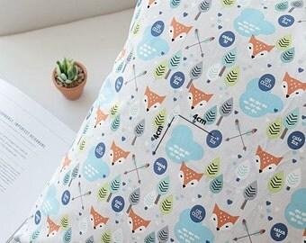 Fox Pattern 20s Oxford Cotton Fabric by Yard