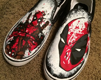 Splatter Paint Custom Deadpool Shoes