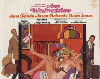 Any Wednesday, 1966 Soundtrack LP Vinyl Record, Jane Fonda, Jason Robards, Dean Jones