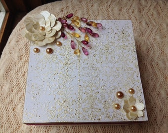 Hand Decorated Gift Box-Gold Embossed-6 in.