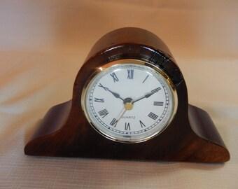 Hand Made Walnut wood Clock with Quartz Movement