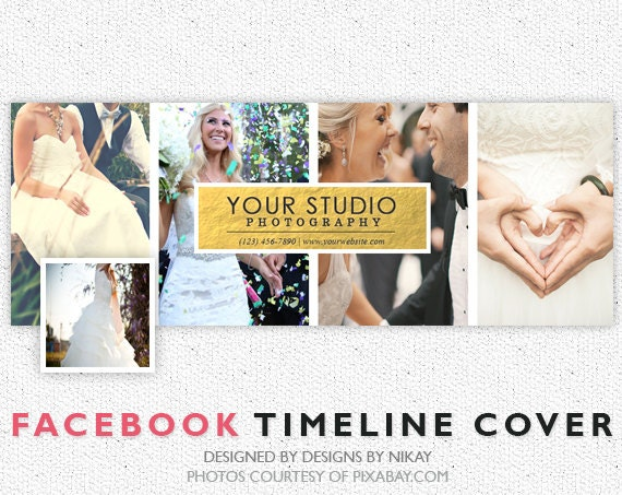 Facebook Timeline Cover // Photoshop Template // INSTANT DOWNLOAD // FB007