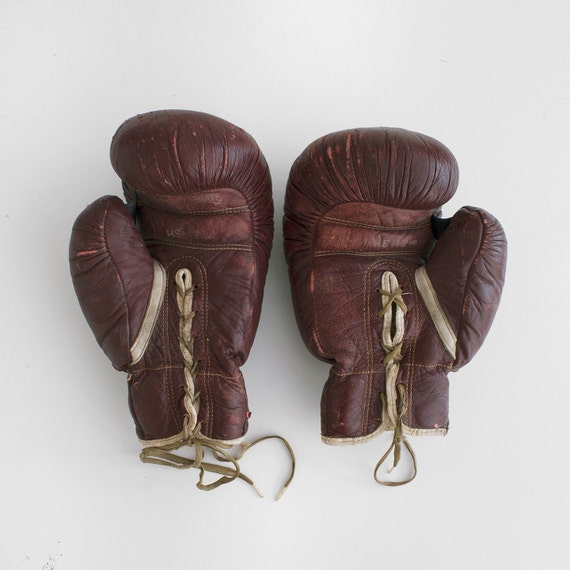 Vintage Boxing Gloves Gold Smith Boxing Gloves Boxing