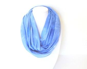 Blue Infinity Scarf, Tie Dye Scarf, Fall Scarf, Bridesmaid Gift, Gift Ideas