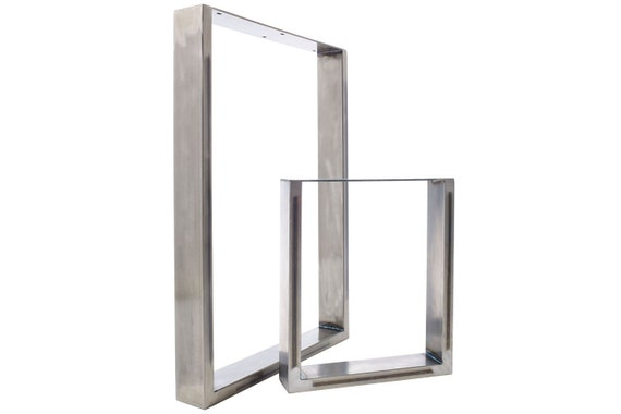 2 x Table Legs - Dining Pedestals in Industrial Steel