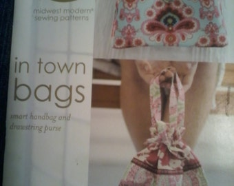 Amy Butler Designs In Town Bags Smart Handbag and Drawstring Purse