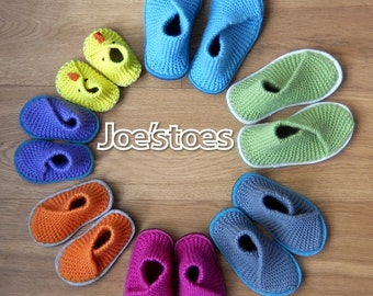 KIT to make Kid's Crossover Slippers in 100% British Herdy Wool UK sizes