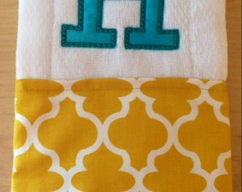 Burp cloth, Monogrammed burp cloth, Personalized burp cloth, Girls burp cloth, Baby shower gift, Baby gift, Burp Rag