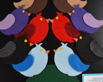 Two Little Blue Birds Flannel Board Story