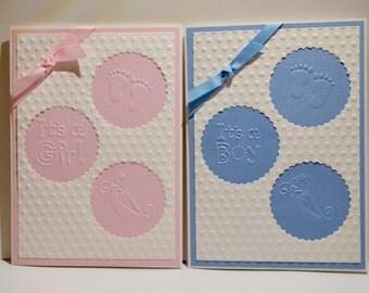 Circle Cutout Girl or Boy Card