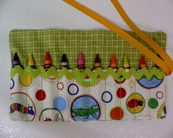 Bugs and Boys Roll-10 Crayola Crayons included-Great Birthday Gift or Party Favor