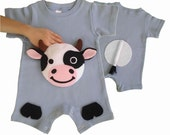 baby farmer, farm onesie, cow onesie, baby boy clothes, baby boy onesie, cute baby boy clothes, boy one year, baby gifts, kids clothes, zoo