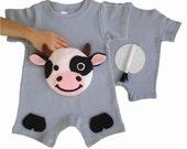 baby farmer, farm onesie, cow onesie, baby boy clothes, baby boy onesie, cute baby boy clothes, boy one year, baby gifts, kids clothes, zoo