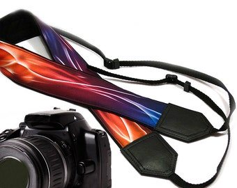 InTePro abstract design camera strap. Colorful Camera strap.  DSLR/ SLR flames Camera Strap. Camera accessories.