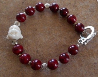 Hotai Buddha Red Ceramic bead bracelet