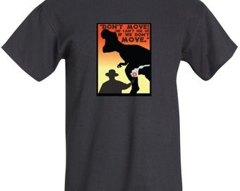 Jurassic Park. Sci Fi/Horror Film-inspired T-shirt designed by Cult.Graphics (Black, White and Grey)