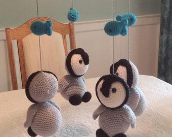 Penguin baby mobile Etsy