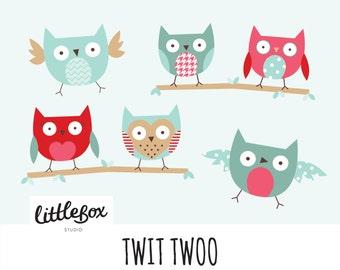 Owl Vector Clipart, instant download
