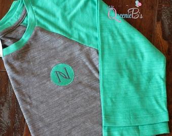 Nerium Raglan Tee - 3/4 Sleeve - Baseball Tee - Size: XS - XL