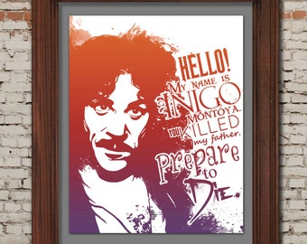 Princess Bride / My Name is Inigo Montoya - 8x10 Printable Poster -- DIGITAL DOWNLOAD / Instant Download