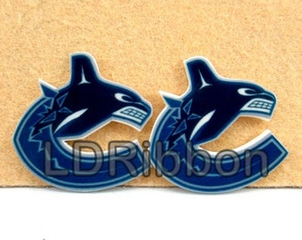 Canucks Inspired Flat Back Resins (Set of 2)