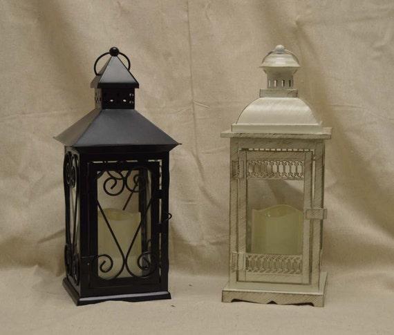 Wedding inch lantern centerpiece vintage antique ivory