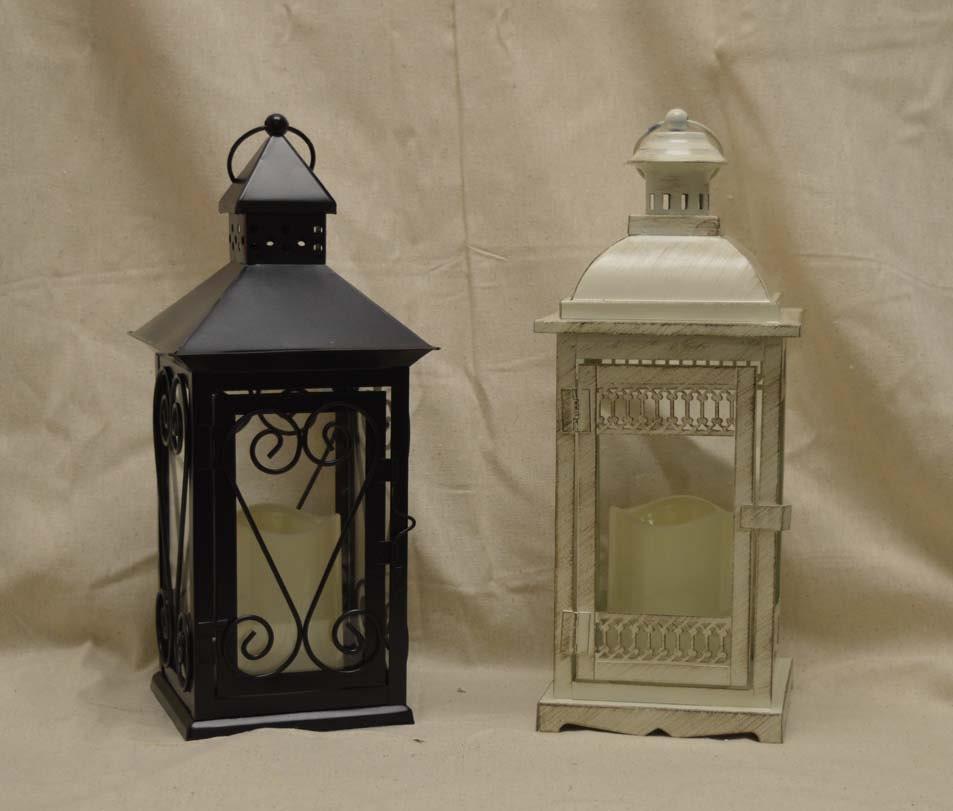 Wedding 14 Inch Lantern Centerpiece Vintage Antique Ivory