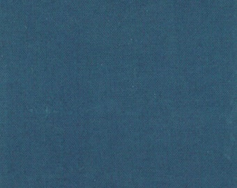 Teal Blue Organic Cotton Solid Fabric, Moda 14100 17, Teal Organic Fabric, Blue Organic Quilt Fabric, Blue Solid Quilt Fabric