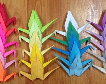 500 Paper Crane- Origami Cranes- Wedding Decor- Senbazuru- Any Color