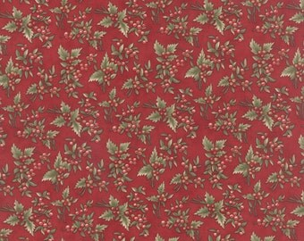 Moda Fabric Under the Mistletoe 44072-12...Sold in continuous cut 1/2 yard increments
