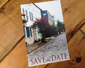Streets of Charleston Save the Date Postcard