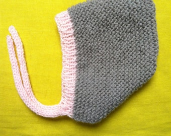 GEORGES - Bonnet crush wool - knit - size from birth to 24 months (21 different colours)