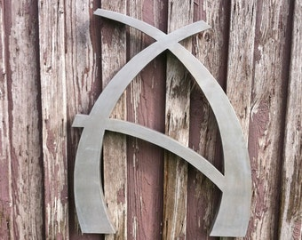 "Custom 36"" Letter A Modern, Decorative Metal Letter, Personalized Wall Decor"