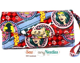 Woman Wallet - Necessary Clutch Wallet- Wonder Woman Red