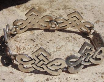 Ana Maria Nunez de Brilanti ~ Vintage Cony Sterling Silver Pierced Link Bracelet