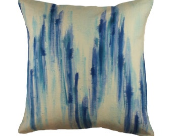 Hand painted abstract pillow cover