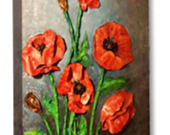 Poppies Canvas wrap Print