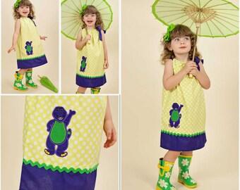 Barney Pillowcase Dress, Barney Birthday Dress
