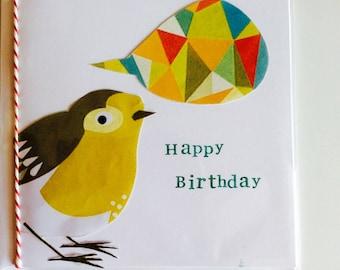 Handmade designer Little Birdie card
