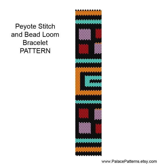 bracelet pattern for peyote stitch or bead loom by