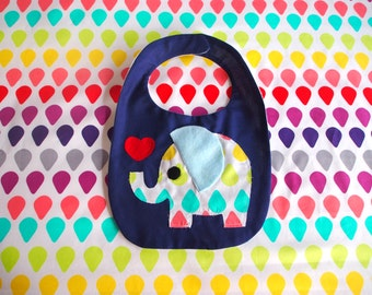 Elephant Love Baby Bib