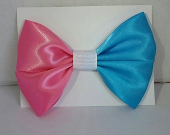 Make The Dress Pink/Blue Bow