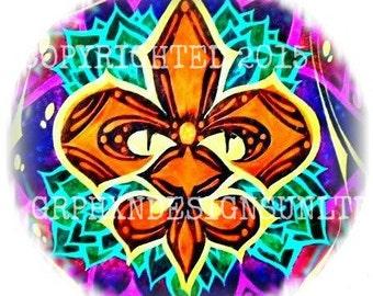 New Orleans Temporary Tattoo / Fleur De Lis Tattoo