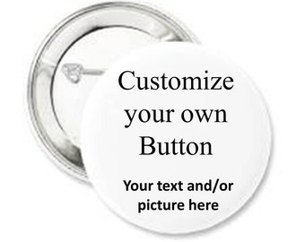 Custom pin back button-Name Badge-Will you be my bridesmaid-Large custom button-Pin back button-Photo personalized pin-Awareness button pin