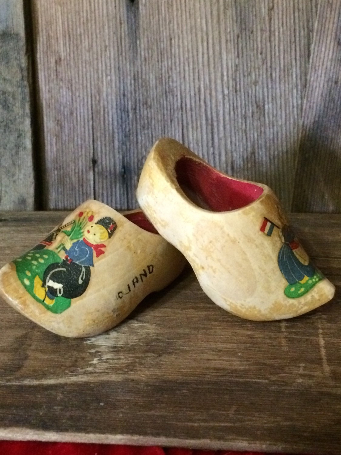Miniature Dutch Shoes Wooden Clogs From Holland By 2BarnPickers