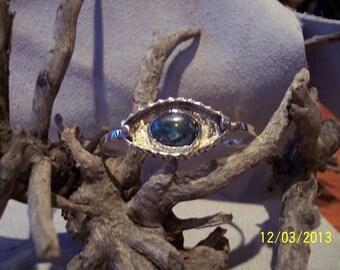 Chrysocolla Sterling Cuff bracelet.