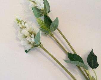 3 x White Physostegia - Artificial Wild Flowers